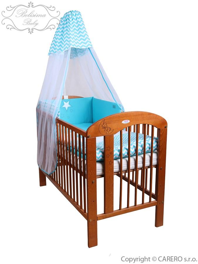 5-dielne posteľné obliečky Belisima Hviezdička 90/120 tyrkysové