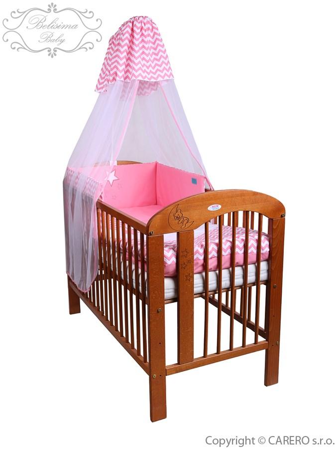 6-dielne posteľné obliečky Belisima Hviezdička 90/120 ružové