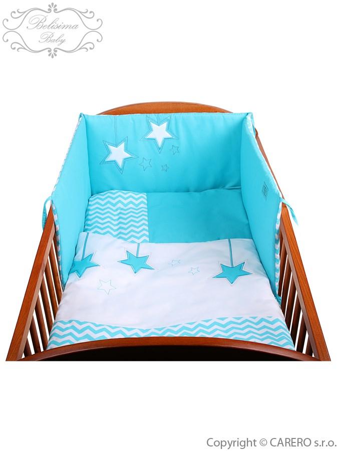 3-dielne posteľné obliečky Belisima Hviezdička 100x135 tyrkysové