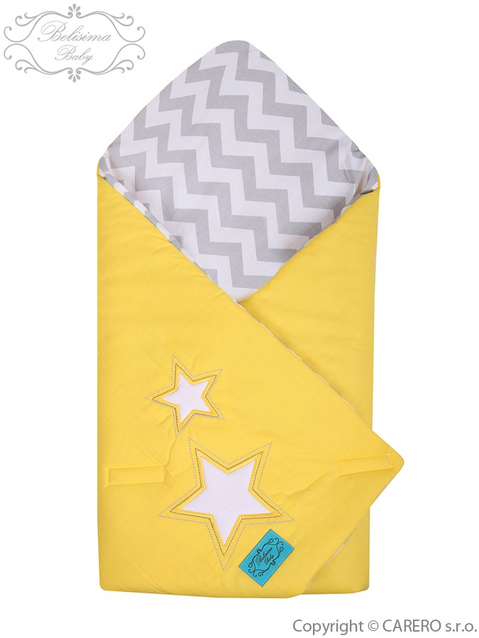 Vyšívaná zavinovačka Belisima Hviezdička žltá