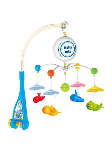 Elektrický kolotoč nad postieľku Baby Mix Vtáčiky