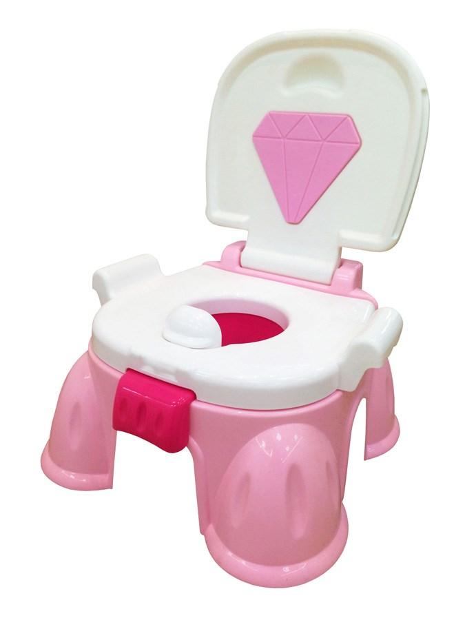 Hrajúci detský nočník s poklopom Baby Mix ružový