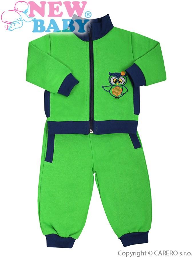 2-dielna súpravička New Baby Sova zeleno-modrá