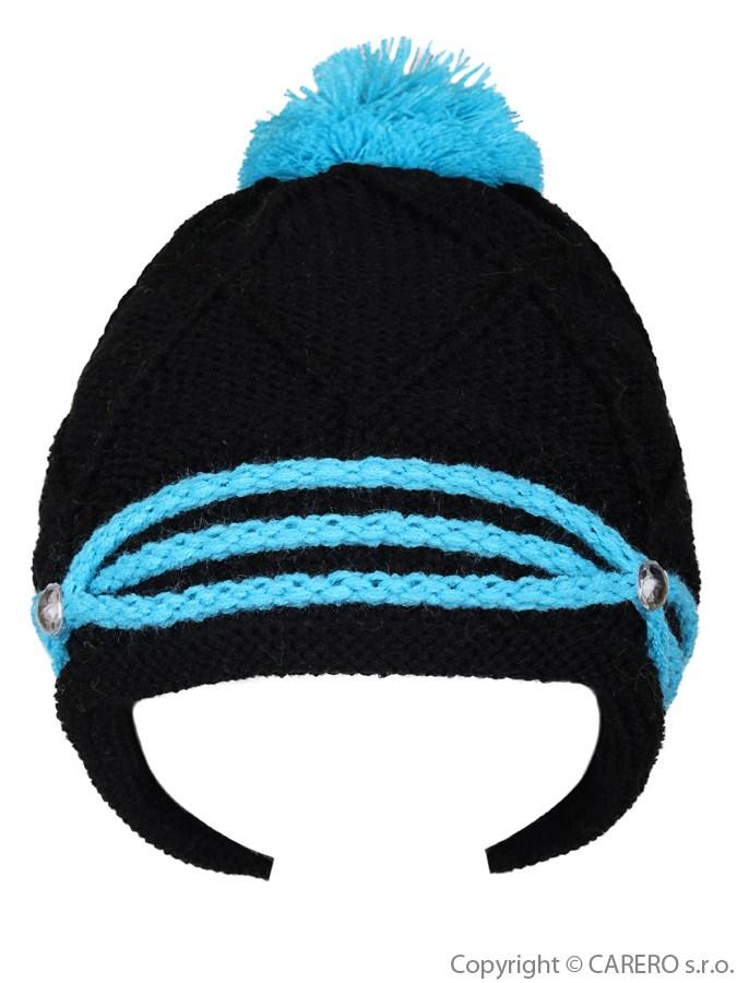 Detská zimná čiapočka Kristýnka čierna