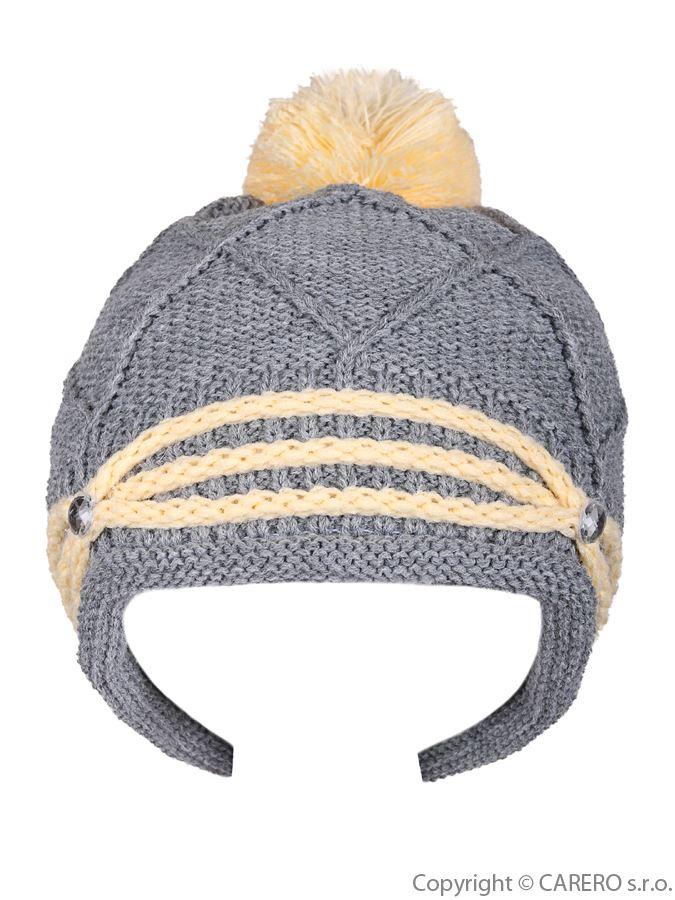 Detská zimná čiapočka Kristýnka sivá