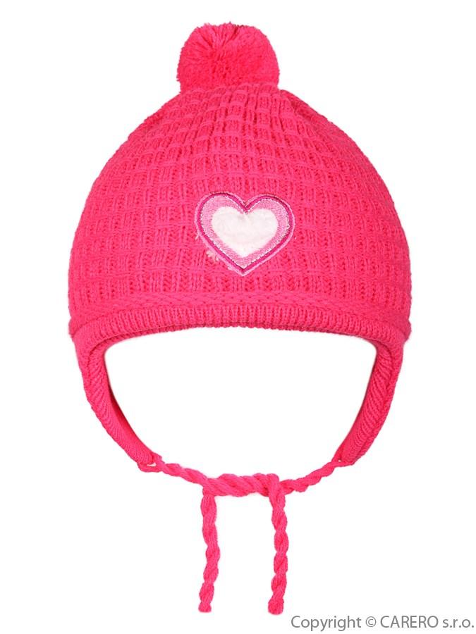 Detská zimná čiapočka Linda malinová