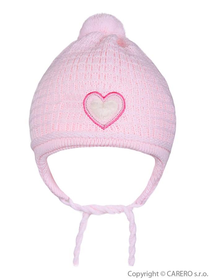 Detská zimná čiapočka Linda svetlo ružová
