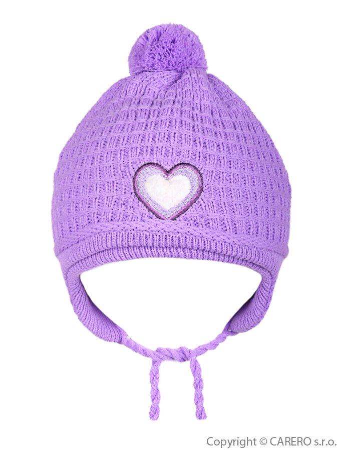 Detská zimná čiapočka Linda fialová