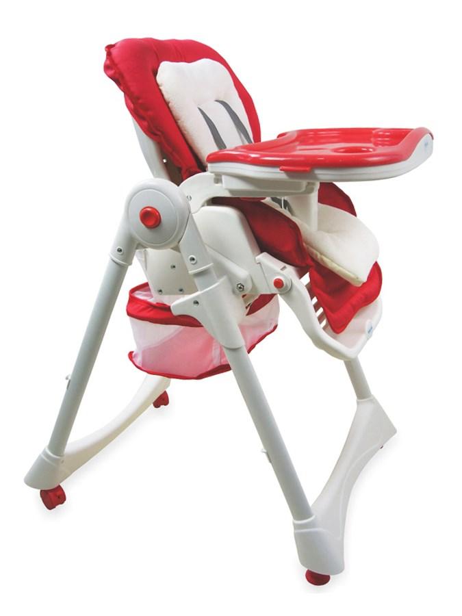 Jedálenská stolička Baby Mix červená