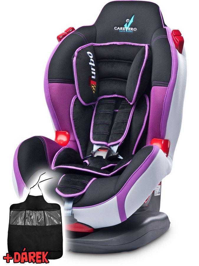 Autosedačka CARETERO SPORT TURBO purple 2015 + darček
