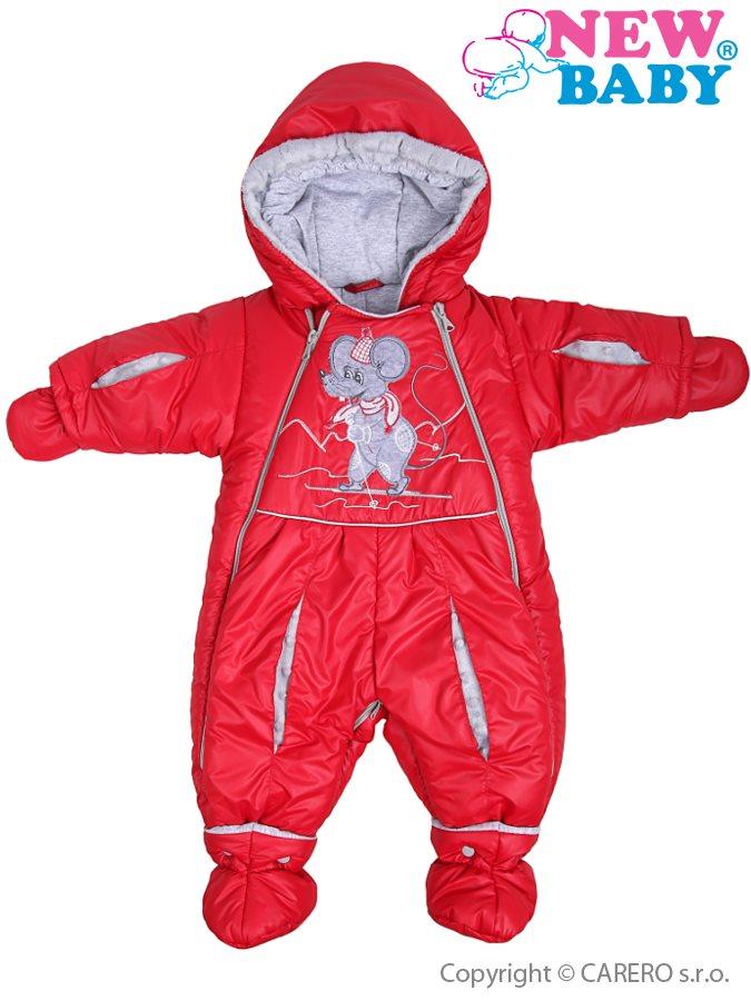 Zimná kombinéza New Baby Myška červená