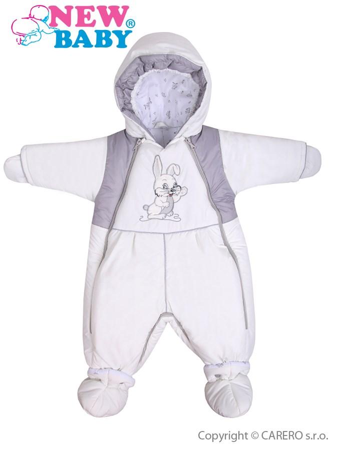 Zimná kombinéza New Baby Zajac biela
