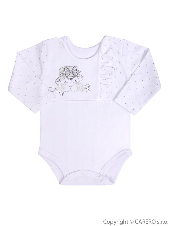 Dojčenské body s dlhým rukávom Koala Natálka biele