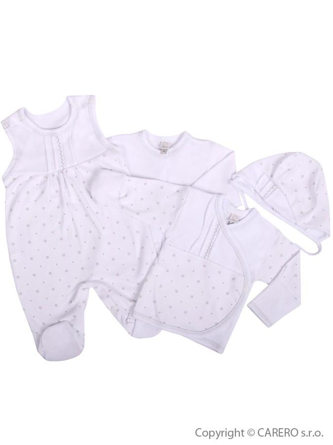 4-dielna dojčenská súprava Koala  Amorek biela s hviezdičkami