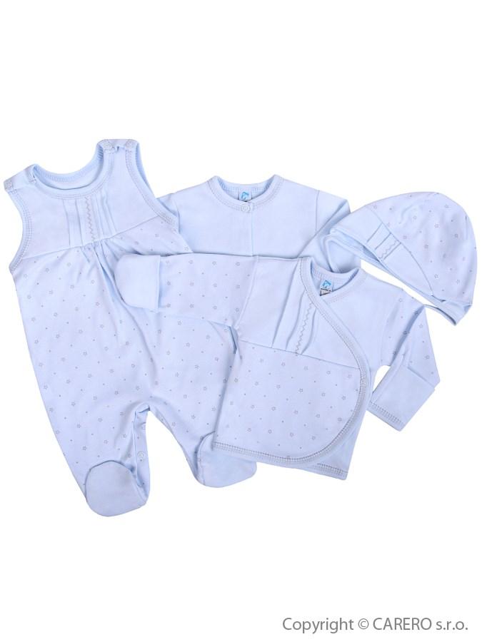 4-dielna dojčenská súprava Koala  Amorek modrá s hviezdičkami