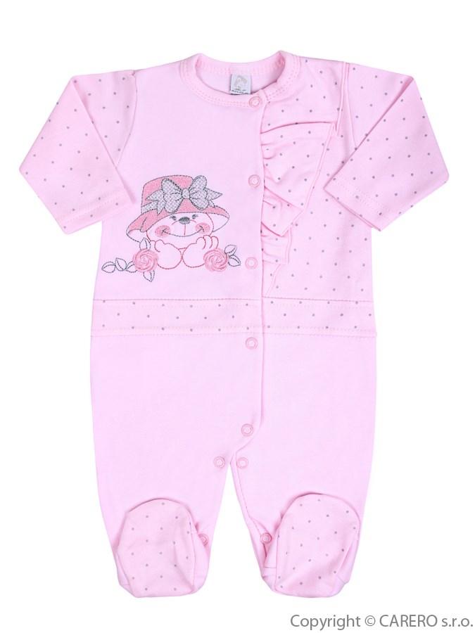 Dojčenský overal Koala Natálka ružový