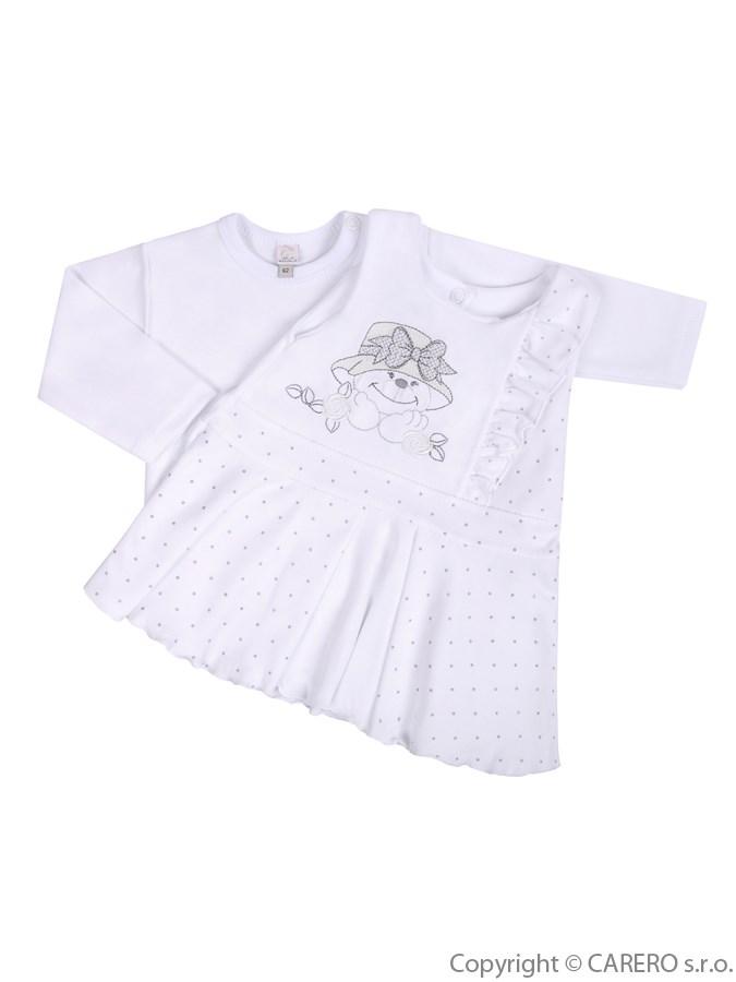 Dojčenská 2-dielna súprava so šatami Koala Natálka biela
