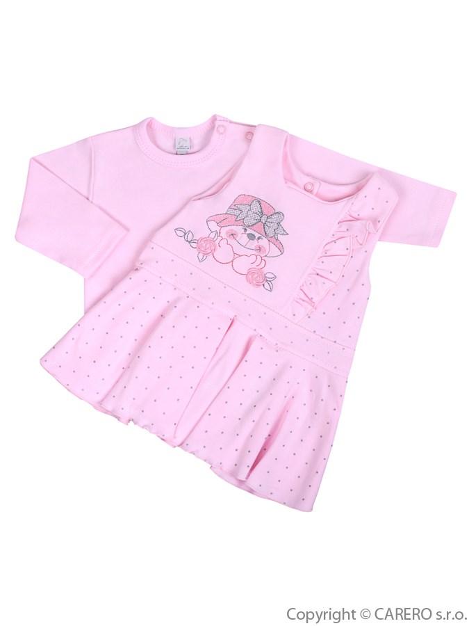 Dojčenská 2-dielna súprava so šatami Koala Natálka ružová